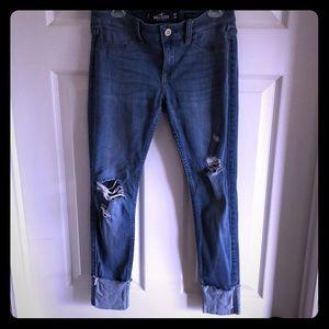 Hollister Low Rise Jean Legging Crop